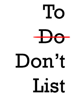 Image result for the don'ts list